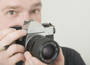 He has a good eye for photography, whether with his 35mm cameras or with my dSLR.