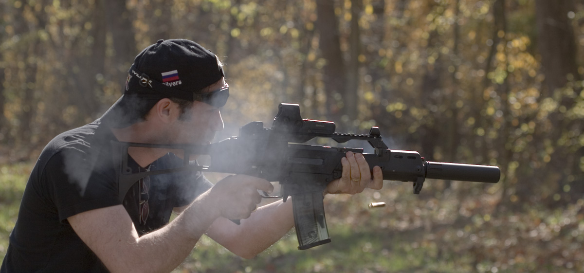 Emptying a G36C rifle.