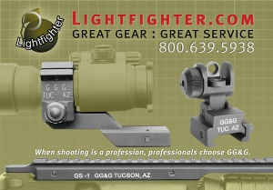 Ad for GG&G distributor Lightfighter (Soldier of Fortune Magazine).