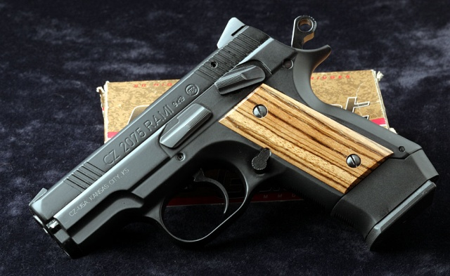 CZ 2075 RAMI with Zebrawood grips by Omega